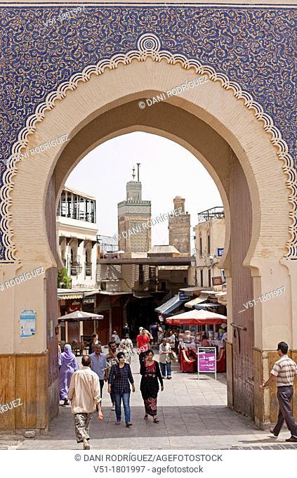 Blue gate (Bab Bou Jeloud), Fes, Morocco