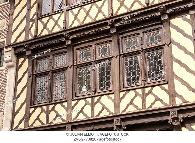 A half-timbered house in the city of Amiens, France