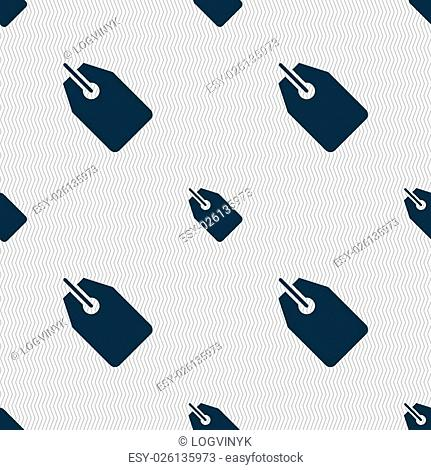 Web stickers, tags and banners icon sign. Seamless pattern with geometric texture. Vector illustration