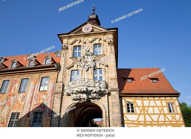 Germany, Bavaria, Franconia, Oldd Town Hall, low angle view