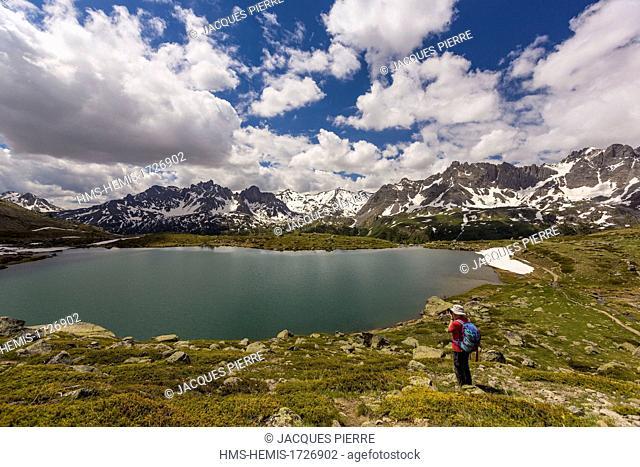 France, Hautes-Alpes, Névache, Clarée valley, the lake Laramon
