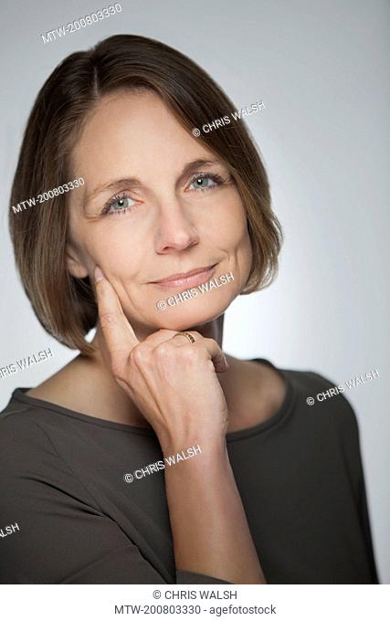 Businesswoman portrait serious mature middle aged