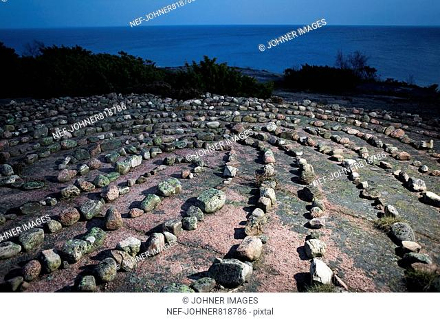 Labyrinth made of stones
