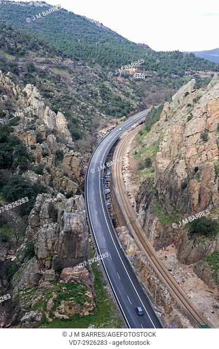 Despenaperros coomb (Santa Elena). Jaen province, Andalucia, Sapin