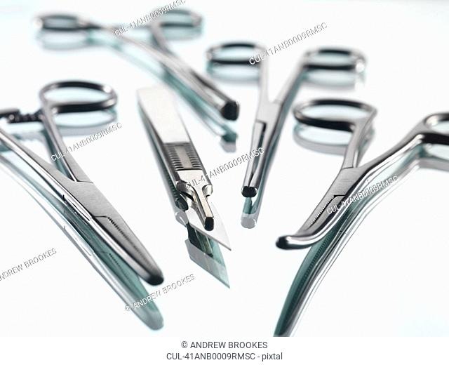 Close up of surgical tools