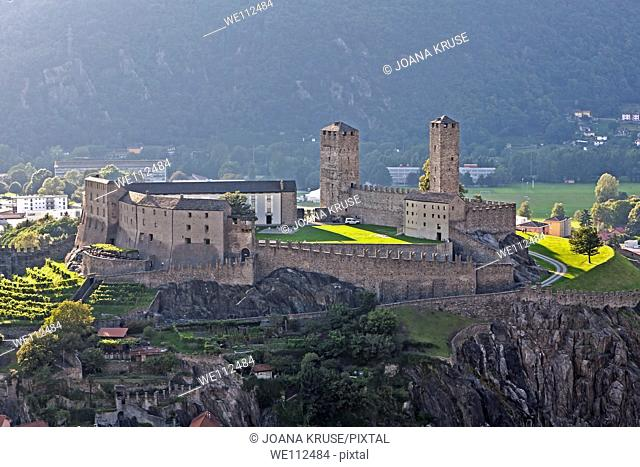 View of the Castel Grande, Bellinzona, Ticino