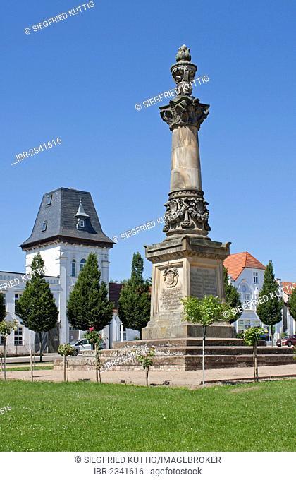 Market square, Putbus, Ruegen Island, Mecklenburg-Western Pomerania, Germany, Europe