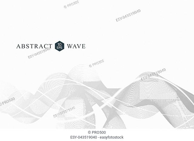 Abstract wave element for design.Big Data Visualization Background. Modern futuristic virtual abstract background. Vector illustration