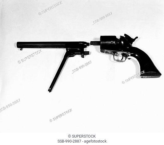 Close-up of a revolver, American Civil War Era Weapon