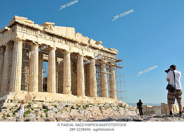 The Parthenon on the Acropolis in Athens