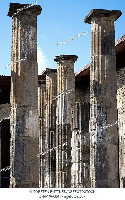 Group of Pillars in Pompeii, Campania, Italy