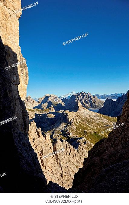 Mountain landscape in Dolomites, Sexten, South Tyrol, Italy