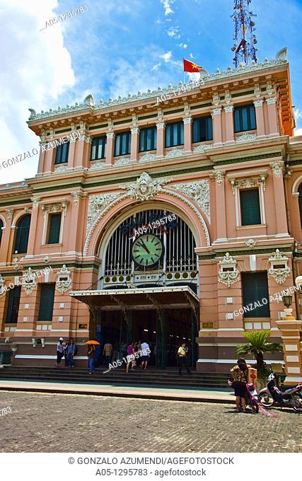 Post Office. Ho Chi Minh City (formerly Saigon). South Vietnam