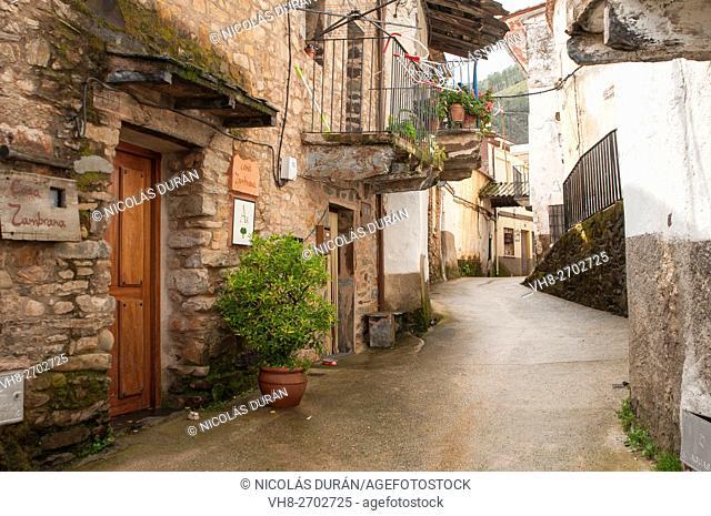 Street of little village of Las hurdes. Cáceres province. Extremadura. Spain
