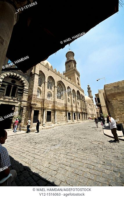 Madrasa, Mausoleum of Sultan Qalawun and sultan al-Zahir barquq Madrasa at Al-Muizz li-Din Allah Street, city of Cairo, Egypt