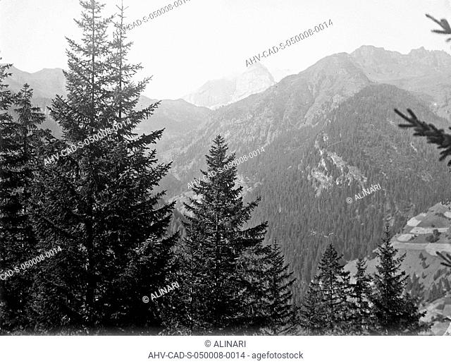 View of the mountains of Tyrol, shot 08-09/1909 by Monteverde, Aurelio