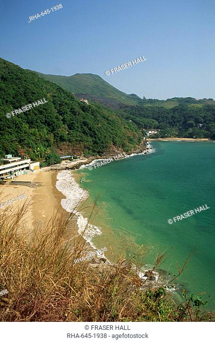 Coastline and beach at Clearwater Bay in the New Territories, Hong Kong, China Asia