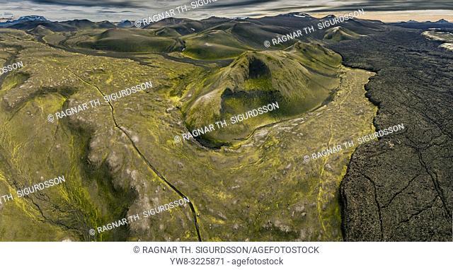 Mt. Hekla lava fields, Mt. Krakatindur, Iceland