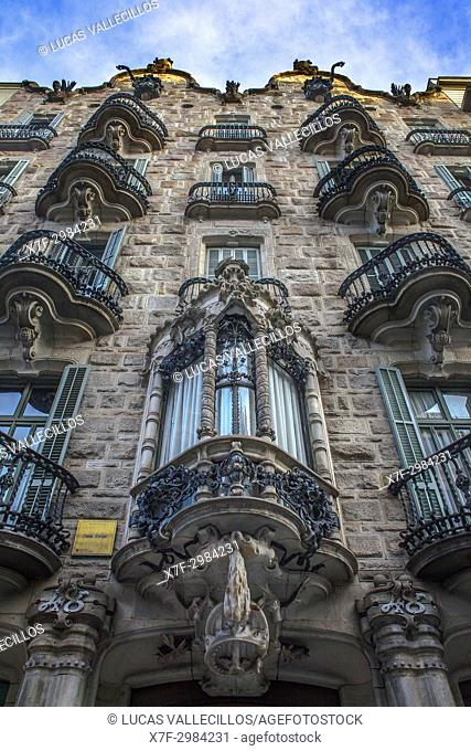 Casa Calvet by Antoni Gaudí, Barcelona, Catalonia Spain