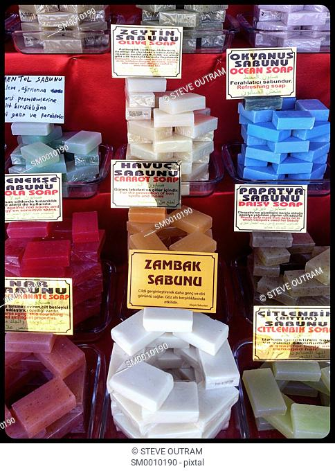 Different Types of Soap, Istanbul, Turkey
