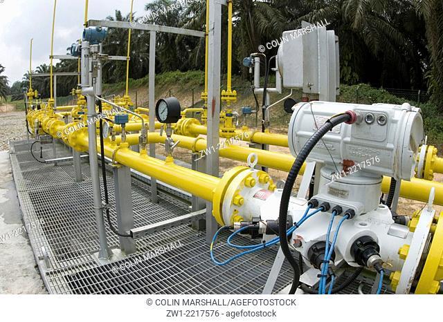 Gas transmission station in Sumatra, Indonesia