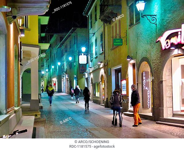 Via Roma, Bormio, Sondrio, Lombardei, Italien