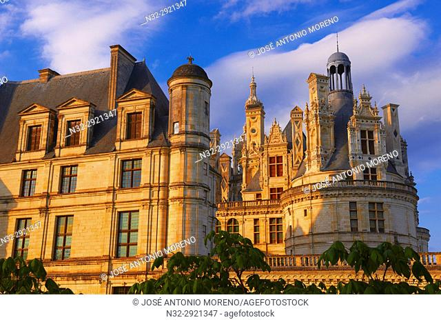 Chambord, Chambord Castle, Chateau de Chambord, Sunset, Loir et Cher, Loire Valley, Loire River, Val de Loire, UNESCO World Heritage Site, France