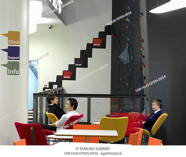 OPEN YOUTH CLUB-CAFE AREA WITH CLIMBING WALL