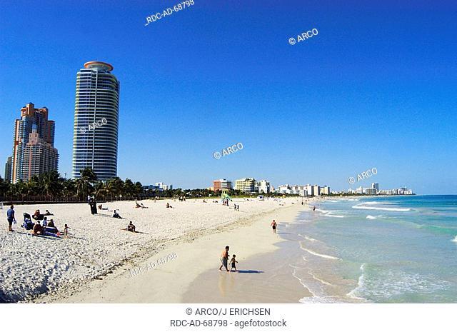 People at beach South Beach Miami Beach Florida USA