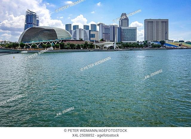 Modern Architecture, Marina Bay in Singapore, Southeast Asia