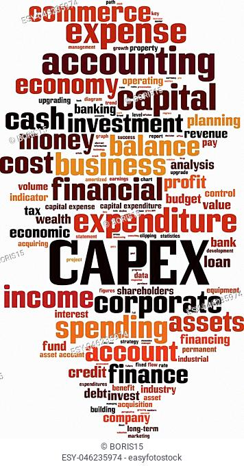 Expense word cloud Stock Photos and Images | age fotostock