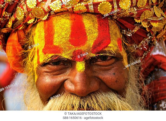 Sadhu by the Holy Ganges River
