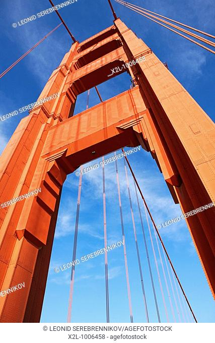 Tower of the Golden Gate Bridge  San Francisco, California, USA