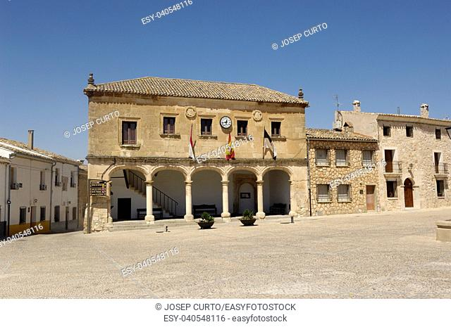 Infante Don Juan Manuel square, Alarcon, Cuenca province, La Mancha,Spain