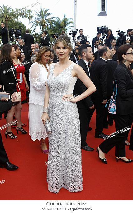 Actress Carly Steel attends the premiere of Money Monster during the 69th Annual Cannes Film Festival at Palais des Festivals in Cannes, France, on 12 May 2016
