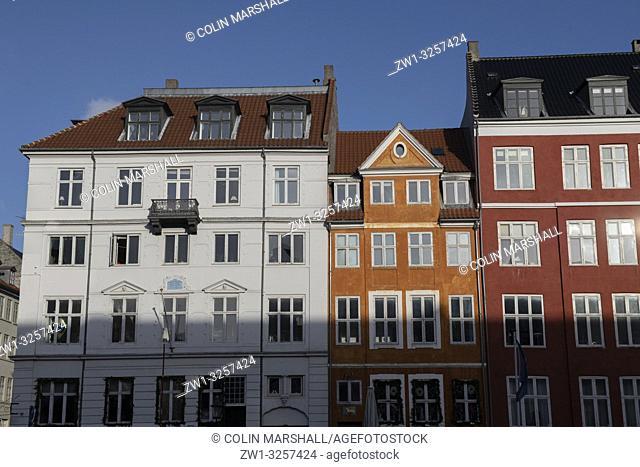 """Waterfront, Nyhavn (""""""""New Harbour""""""""), Copenhagen, Denmark"""
