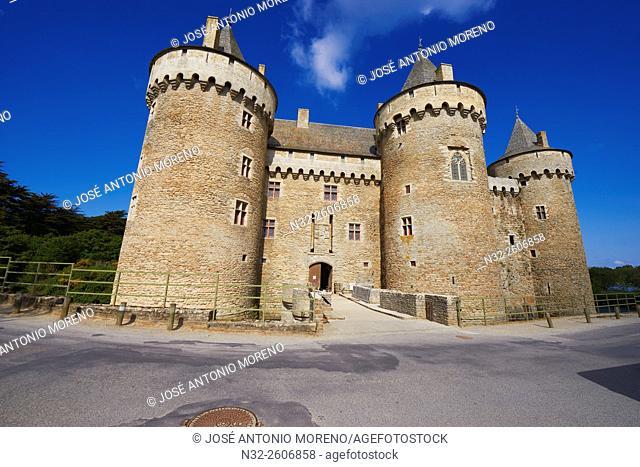 Suscinio Castle, Chateau de Suscinio, Sarzeau, Presqu'île de Rhuys, Morbihan, Bretagne, Brittany, France, Europe