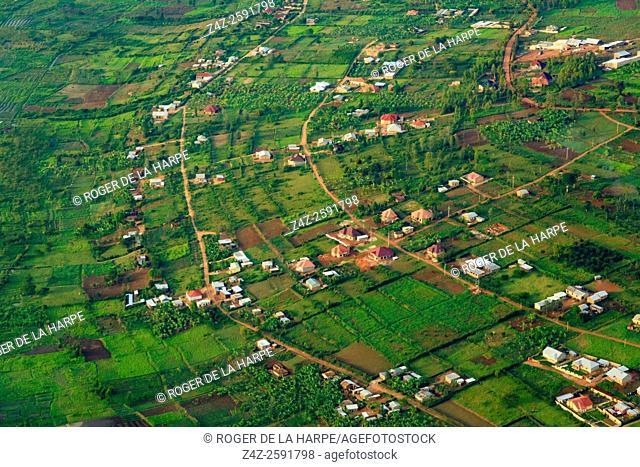 Aerial view near Kigali. Rwanda