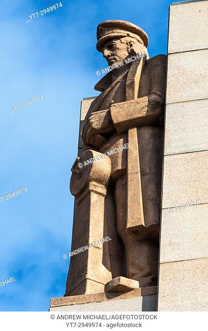Closeup detail of Anzac War Memorial, Hyde Park, Sydney, New South Wales, Australia