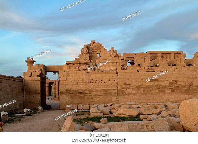The temple of Karnak in Egypt