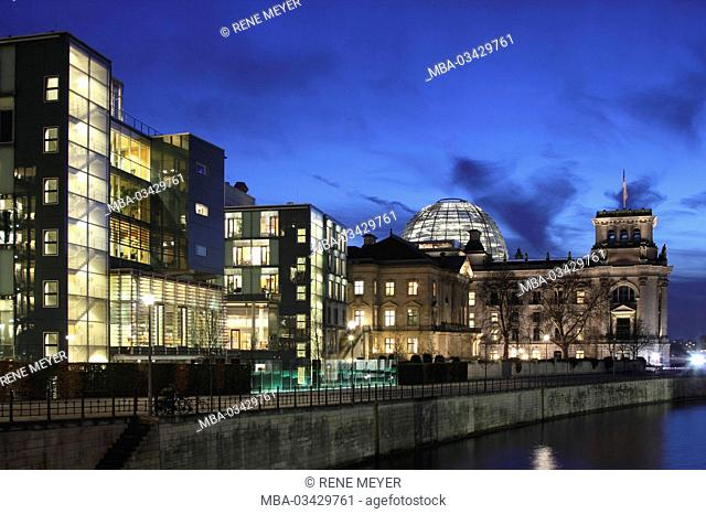 Jakob Kaiser house, Reichstag, the Spree