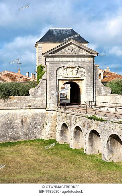 Saint-Martin-en-Re fortification, designed and constructed by Vauban, Campani Gate, Unesco World Heritage Site, Ile de Re island, Departement Charentes Maritime