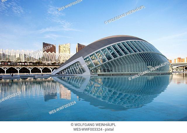 Spain, Valencia, City of Arts and Sciences, cinema L'Hemisferic