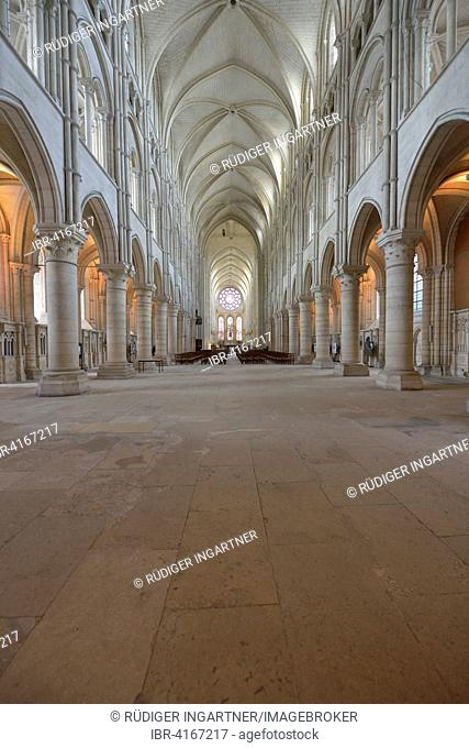 Nave, Gothic ribbed vault, Cathedral of Laon, Laon, Département Aisne, France
