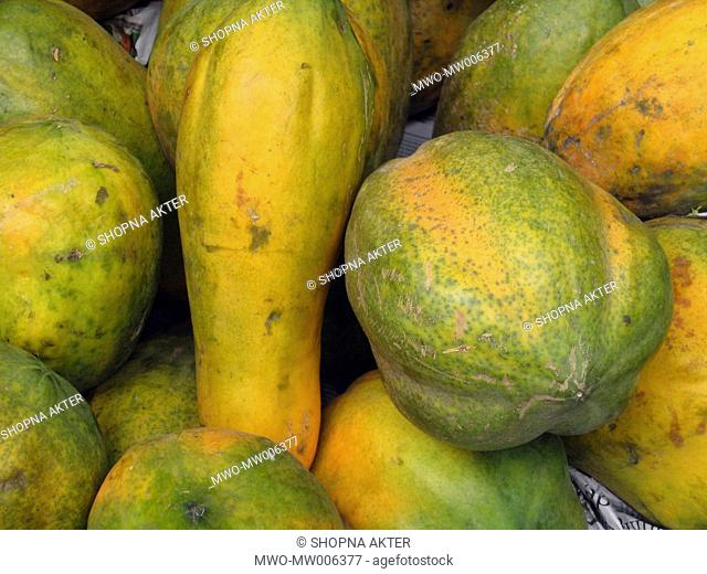 Papaya, locally known as Pepe is a common fruit in Bangladesh available throughout the year Bangladesh April 14, 2007
