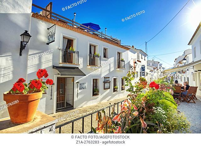 Street in Altea. Alicante. Valencia community. Spain