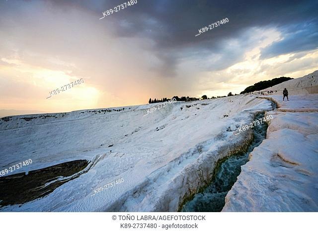 Pamukkale thermal waters. Turkey