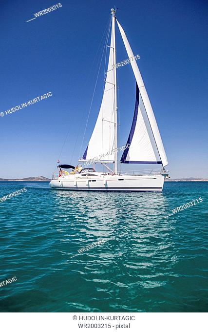 Sailboat on the move, Adriatic Sea