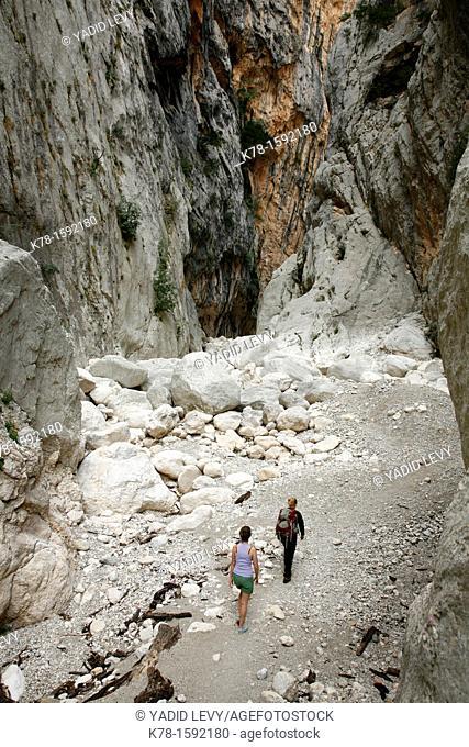 Gola Su Gorruppu canyon, Sardinia, Italy