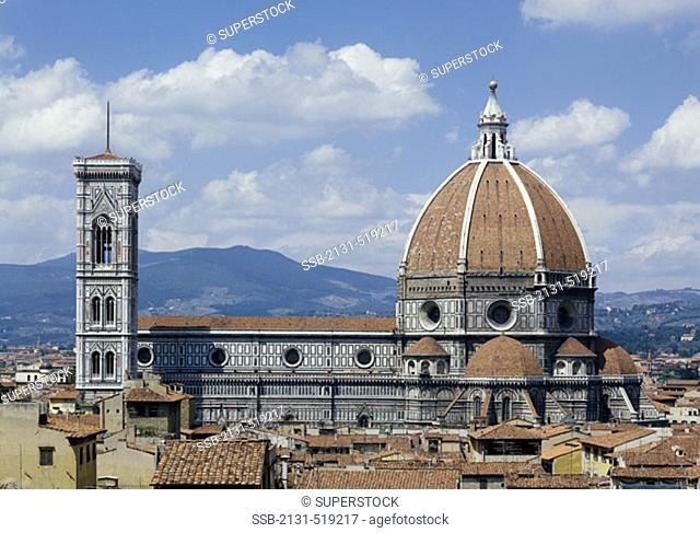 Duomo Cathedral and Giotto's Tower Florence Italy